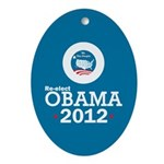 Re-elect Obama 2012 Ornament (Oval)