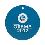 Re-elect Obama 2012 Ornament (Round)