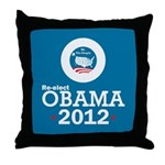 Re-elect Obama 2012 Throw Pillow