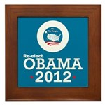 Re-elect Obama 2012 Framed Tile