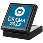 Re-elect Obama 2012 Keepsake Box