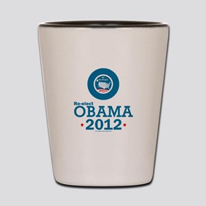 Re-elect Obama 2012 Shot Glass