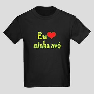 I Love Grandma (Port/Brasil) Kids Dark T-Shirt