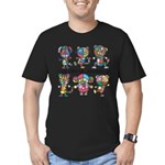 kuuma colorfulall 1 Men's Fitted T-Shirt (dark)