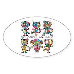 kuuma colorfulall 1 Sticker (Oval)