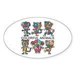 kuuma colorfulall 1 Sticker (Oval 10 pk)