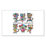 kuuma colorfulall 1 Sticker (Rectangle 10 pk)