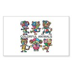 kuuma colorfulall 1 Sticker (Rectangle 50 pk)