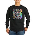 kuuma colorfulall 3 Long Sleeve Dark T-Shirt