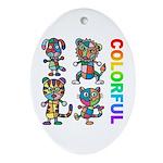 kuuma colorfulall 3 Ornament (Oval)