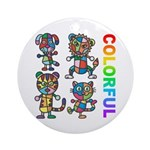 kuuma colorfulall 3 Ornament (Round)
