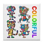 kuuma colorfulall 3 Tile Coaster