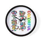 kuuma colorfulall 3 Wall Clock