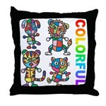 kuuma colorfulall 3 Throw Pillow