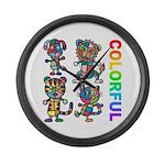 kuuma colorfulall 3 Large Wall Clock