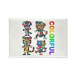 kuuma colorfulall 3 Rectangle Magnet (100 pack)