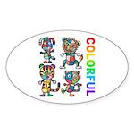 kuuma colorfulall 3 Sticker (Oval 10 pk)