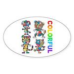 kuuma colorfulall 3 Sticker (Oval 50 pk)