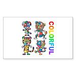 kuuma colorfulall 3 Sticker (Rectangle 10 pk)