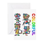 kuuma colorfulall 3 Greeting Cards (Pk of 10)