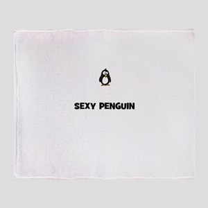 sexy penguin Throw Blanket