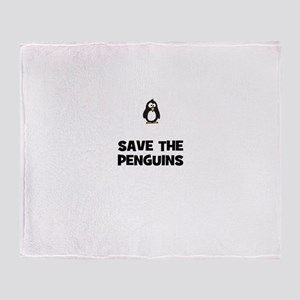 save the penguins Throw Blanket