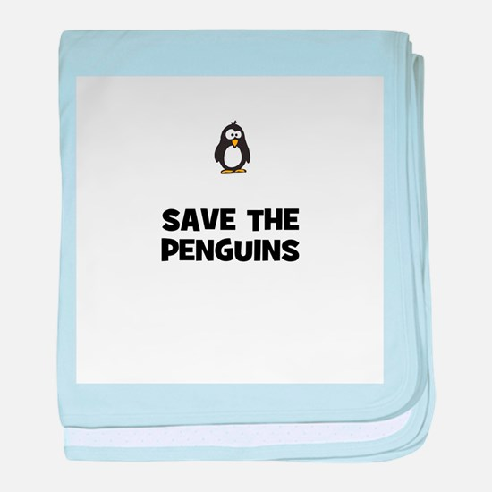 save the penguins baby blanket