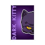Dark Kitty Rectangle Magnet