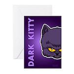 Dark Kitty Greeting Cards (Pk of 10)
