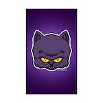 Dark Kitty Sticker (Rectangle 10 pk)