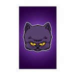 Dark Kitty Sticker (Rectangle 50 pk)