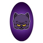 Dark Kitty Sticker (Oval)
