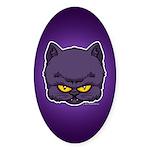 Dark Kitty Sticker (Oval 10 pk)