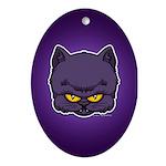 Dark Kitty Ornament (Oval)
