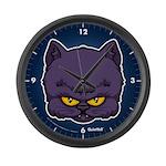 Dark Kitty Large Wall Clock