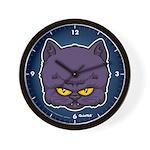 Dark Kitty Wall Clock