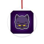 Dark Kitty Ornament (Round)