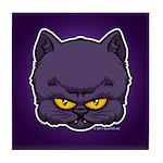 Dark Kitty Tile Coaster