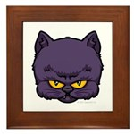 Dark Kitty Framed Tile