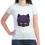 Dark Kitty Jr. Ringer T-Shirt