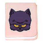 Dark Kitty baby blanket