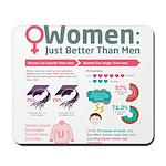 Women: Just Better Than Men Mousepad