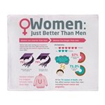 Women: Just Better Than Men Throw Blanket