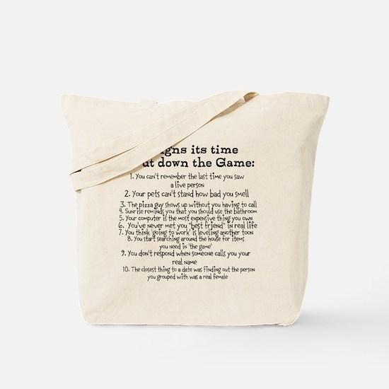 Put down the game! Tote Bag