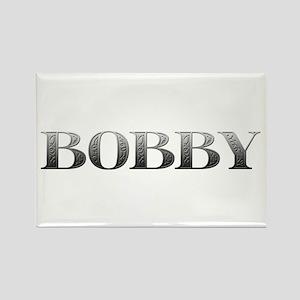Bobby Carved Metal Rectangle Magnet