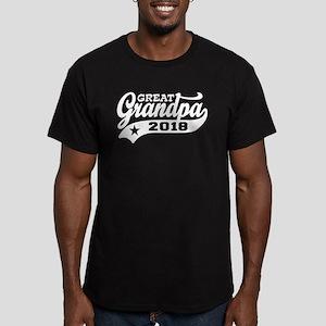 Great Grandpa 2018 Men's Fitted T-Shirt (dark)