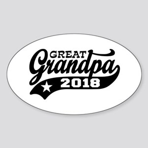 Great Grandpa 2018 Sticker (Oval)