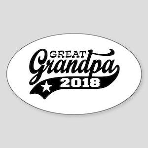 Great Grandpa 2018 Sticker (Oval)