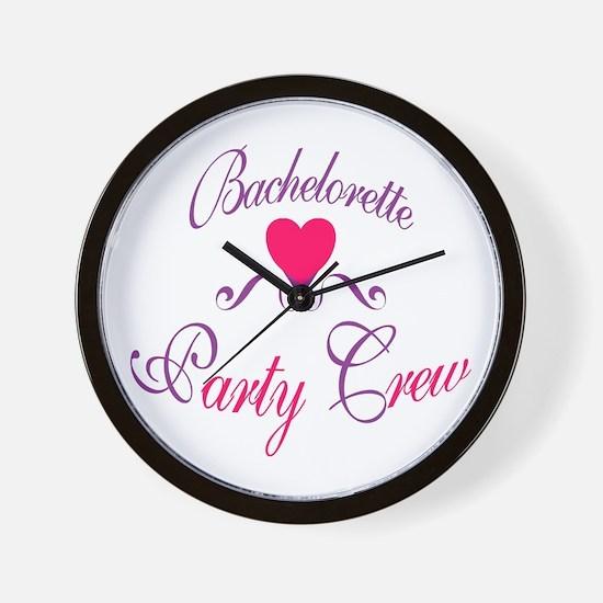 Bachelorette Party Crew Wall Clock