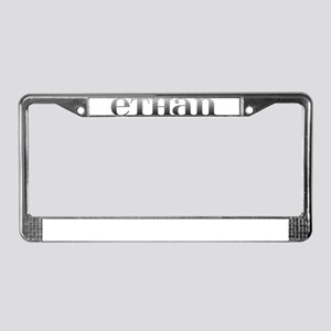 Ethan Carved Metal License Plate Frame